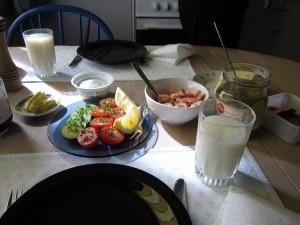 ノルウェーの朝食♪♪