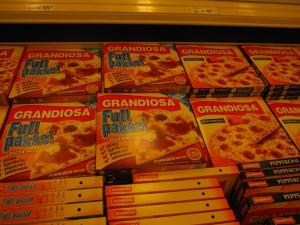 冷凍ピザコーナー