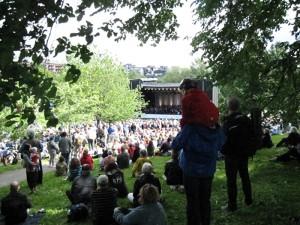 公園のクラシックコンサート